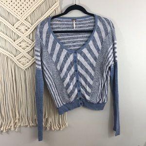 Free people sweater striped cardigan Sz M